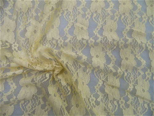 Stretch Mesh Lace Fabric Coffee Latte Cream Floral Sheer B607