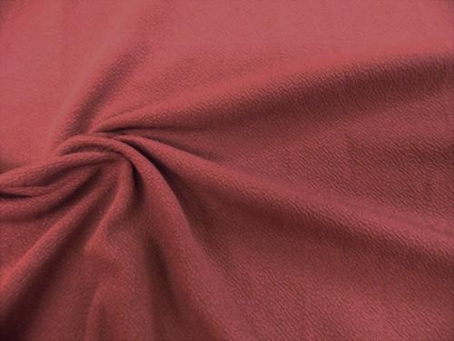 Liverpool Textured Fabric 4 way Stretch Scuba Marsala Rose K405