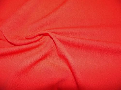 Liverpool Textured Fabric 4 way Stretch Scuba Red Orange J205