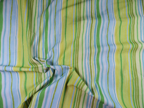 Nike Nylon Lycra Spandex 4way Stretch Bathing Suit Fabric Green Blue Stripe D406