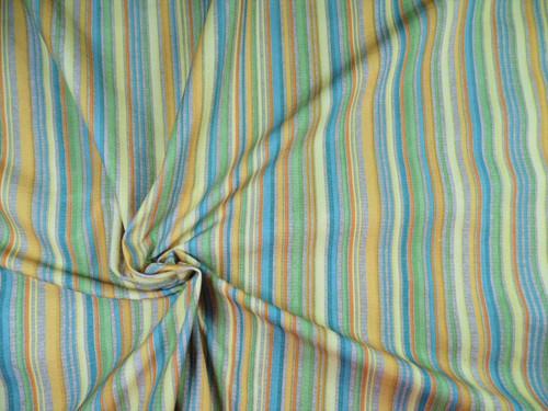 Nike Nylon Lycra Spandex 4way Stretch Bathing Suit Fabric MultiColor Stripe D407