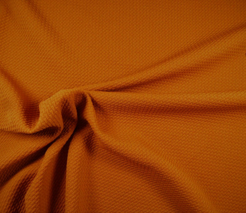 Bullet Textured Liverpool Fabric 4 way Stretch Harvest Orange R10