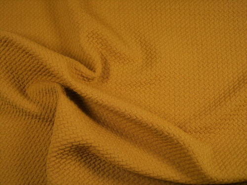 Bullet Textured Liverpool Fabric 4 way Stretch Mustard Gold Q22