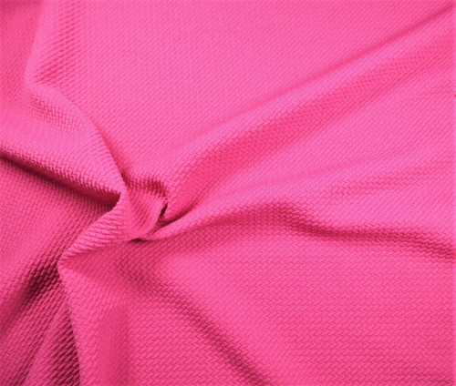 Bullet Textured Liverpool Fabric 4 way Stretch Rose Pink R12
