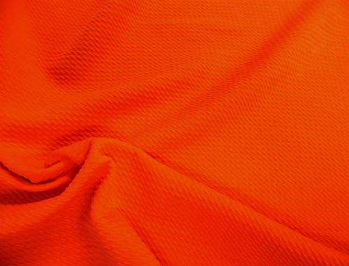 Bullet Textured Liverpool Fabric 4 way Stretch Orange T38