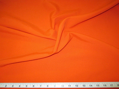 Discount Fabric 2 Ply 100% Nylon Taslan Water Repellent Orange KK41