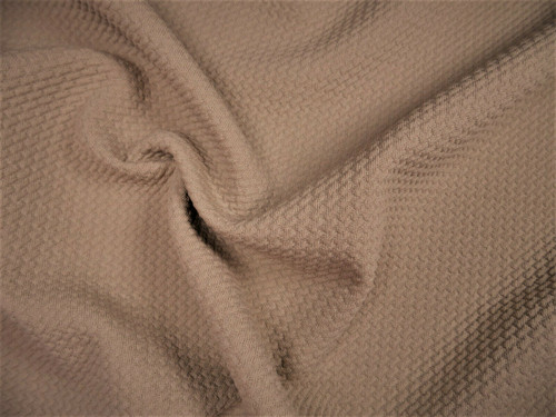 Bullet Textured Liverpool Fabric 4 way Stretch Taupe X33