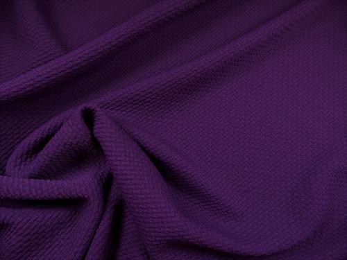 Bullet Textured Liverpool Fabric 4 way Stretch Eggplant Purple X62