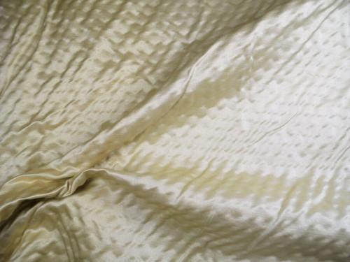 Robert Allen Beacon Hill Fabric Operetta Alabaster Silk Linen Drapery HH18