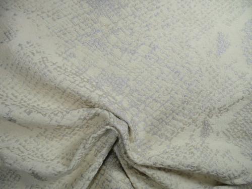 Fabric Robert Allen Beacon Hill Mia Ivory Snake Skin Silk Wool JJ19