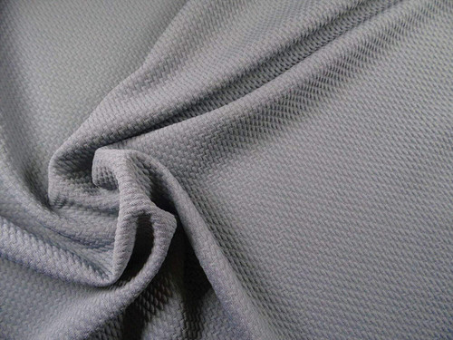 Bullet Textured Liverpool Fabric 4 way Stretch Grey Gray R11