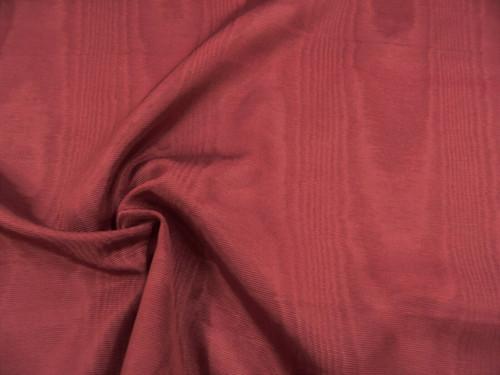 Discount Fabric Moire` Bengaline Faille Burgundy QQ36