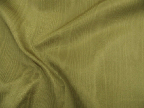 Discount Fabric Moire` Bengaline Faille Golden Olive SS38
