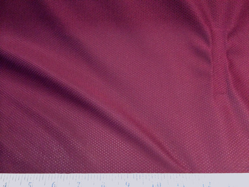 Discount Fabric  Athletic Sports Mesh Burgundy LY945