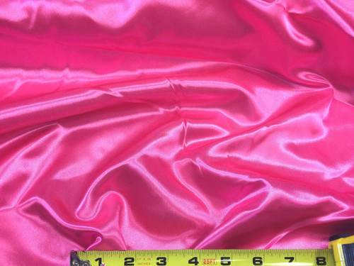 Discount Fabric Satin Shocking Pink 65 inches  wide SA98