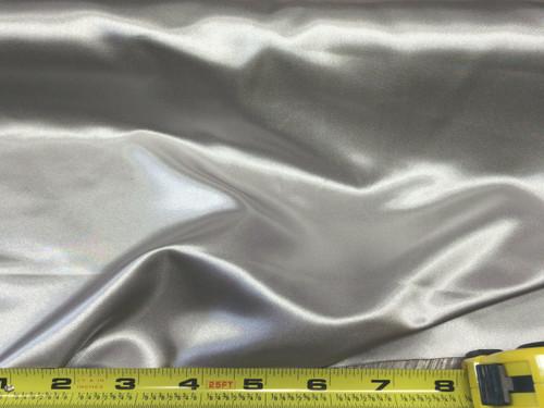 Discount Fabric Satin Silver 65 inches wide SA05