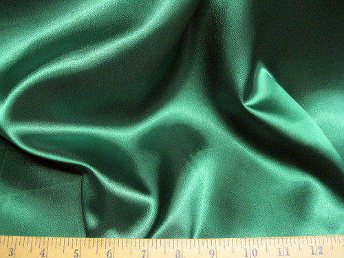 Discount Fabric Satin Emerald Green 65 inches wide SA77