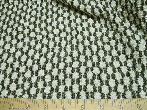 Discount Fabric Stretch Mesh Black and White Pucker Lace  62 ' wide LC327
