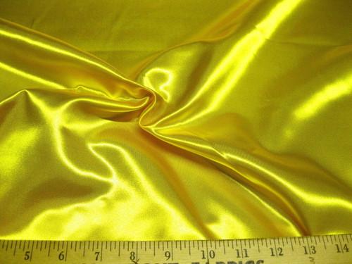 Discount Fabric Satin Sunshine Yellow 65 inches wide SA22