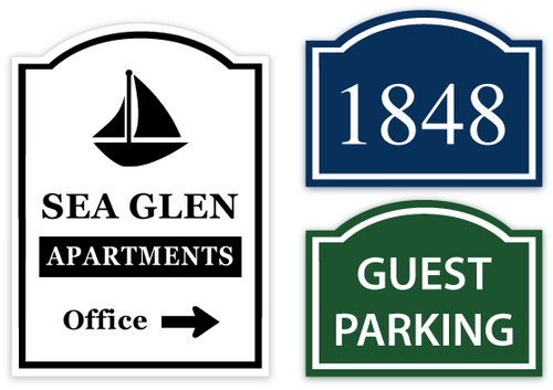 Arched Custom Metal Signs