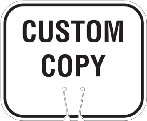 Custom Cone Sign - White