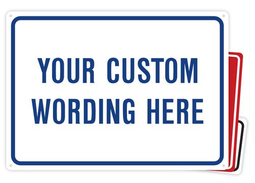 Custom Plastic Sign Builder
