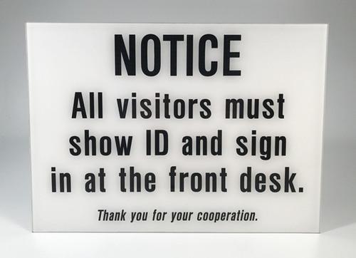 Custom Polished Plexi Signs