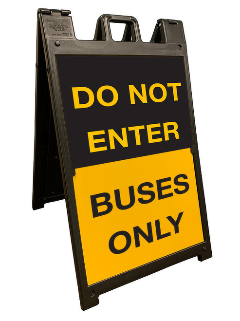 Do not enter - buses only