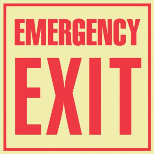 Emergency Exit - Glow in the Dark