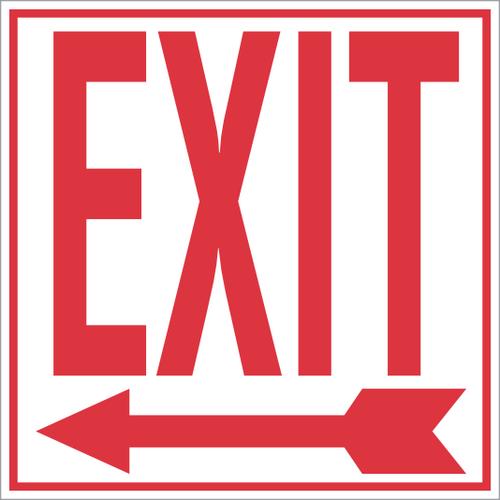 Exit Sticker with Left Arrow