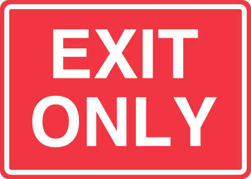 Exit Sign 14'' x 10''