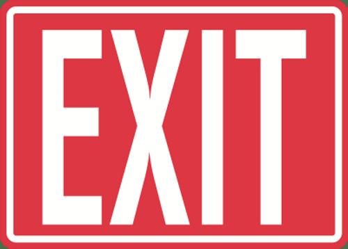 "Exit Sign 14"" x 10"""