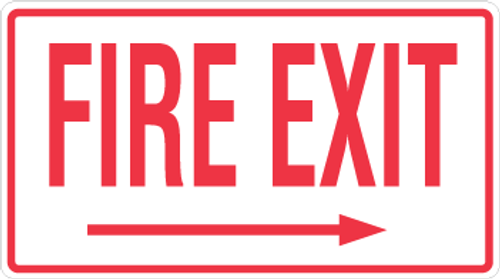 Fire Exit - Right Arrow