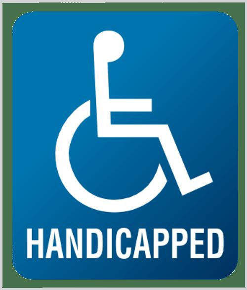 Handicapped - Plexi Sign