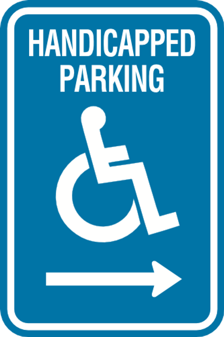 Handicapped Parking - Right Arrow