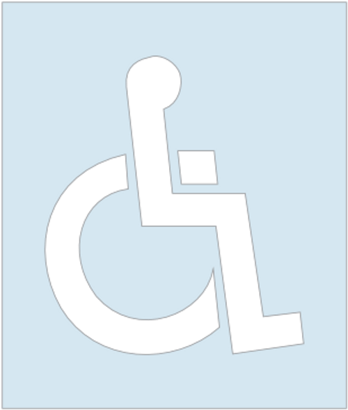 Handicapped Stencil