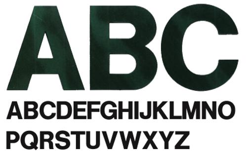 Helvetica Plastic Building Letters