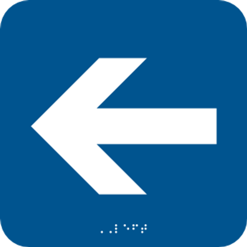 Left Arrow Braille Sign