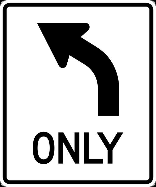 Left Turn Only Symbol