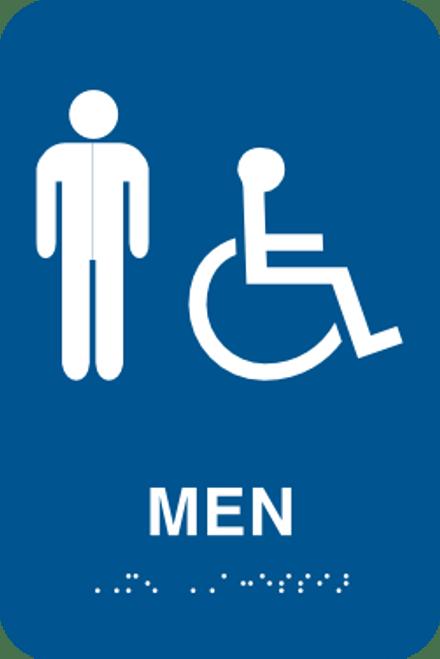 Men's Handicapped Bathroom Sign - ADA Braille