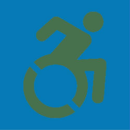 New Handicapped Symbol Sticker