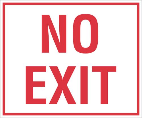 No Exit Sticker