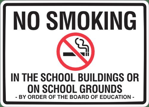 No Smoking on School Grounds Sign & Sticker
