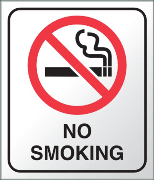 No smoking Plexi Sign