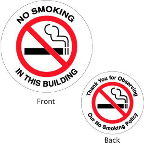 No Smoking in this building - Double Faced