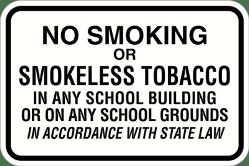 No Smoking or Smokeless Tobacco