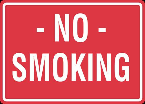 No Smoking Sign - Red