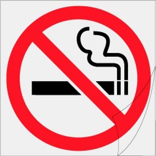 No smoking Symbol - Clear Sticker