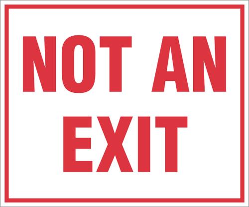 Not An Exit Sticker