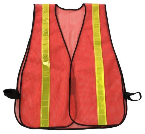 Orange Safety Vest w/ Reflective Stripes